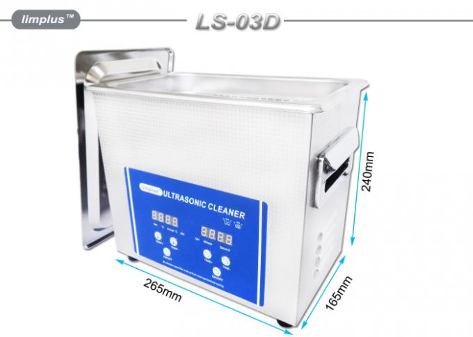 Commercial Electric Jewelry Ultrasonic Cleaner For Jewelry 3L 120W