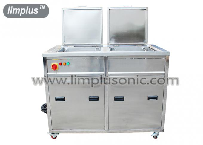 Marine Engine Parts ultrasonic cleaning machine With Oil Filter System , 135L Two Tanks
