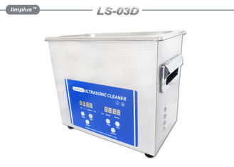 China 3L Bench Top Ultrasonic Cleaner Stainless Steel With Digital Timer supplier