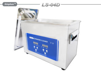 China Durable 4L Table Top Ultrasonic Cleaner With Industrial Transducers supplier