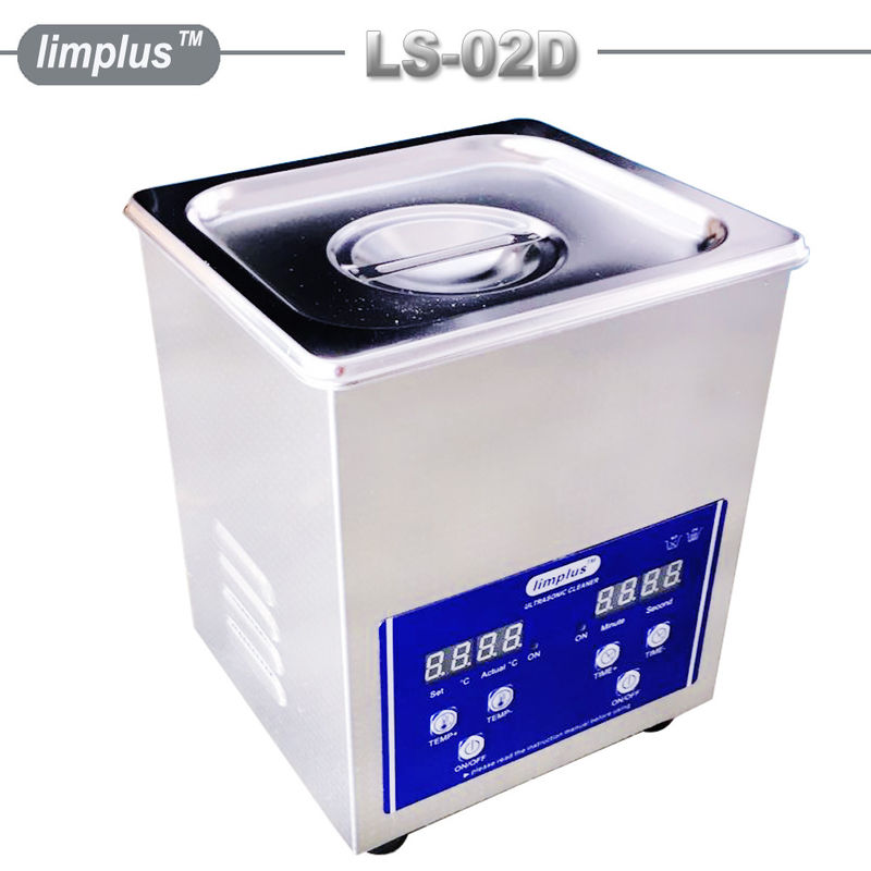2 Liter Table Top Ultrasonic Cleaner / Dental Ultrasonic Bath Digital Timer And Heater