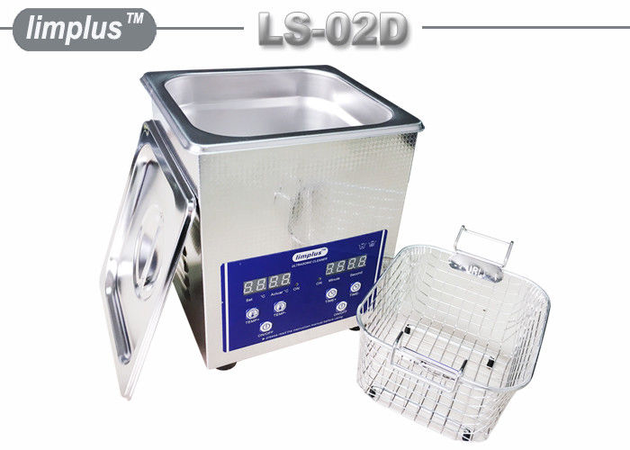 Bentch Top Stainless Steel 2liter Ultrasonic Cleaner Bath Household Use Sterilize