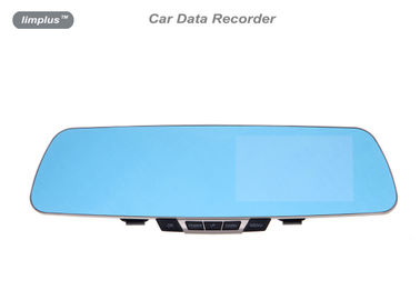 Rear View Mirror Automobile / Car Data Recorder DVR  With GPS Inset Mic
