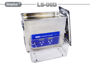 LS - 06D 6.5 Liter Digital Pipe Tube Ultrasonic Cleaner Machine / Ultrasonic Cleaning Bath Lab Use